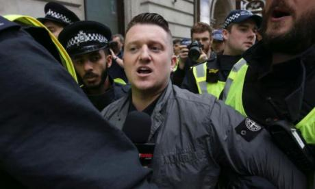 Tommy Robinson has reacted to coverage of the rally he attended over the weekend