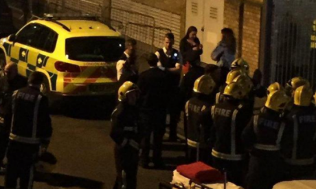 Arthur Collins' acid attack caused chaos outside the club in East London (Twitter @Kazi_UK)
