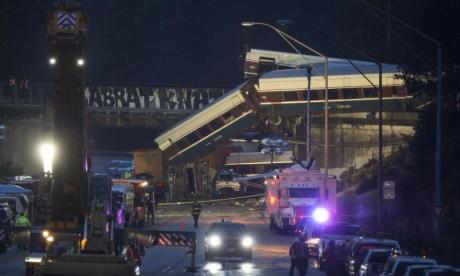 Washington train crash: Engine data shows Amtrak train travelling at 80 mph along 30 mph curve limit