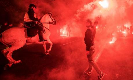 A Sevilla fan is seen before the Europa League final with Liverpool. Biris supporters were blamed for causing violence during that match, one of several incidents linked to the group