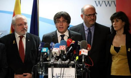Carles Puigdemont has been living in exile since declaring independence in October