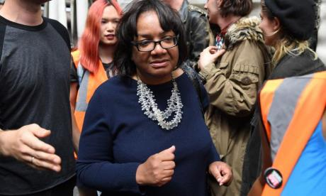 Diane Abbott faced a surprising backlash this morning
