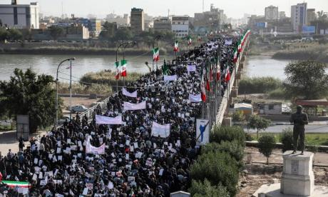 Thousands of people took to the streets in Iran to support the government