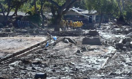Mudslides and flooding in California have caused devastation