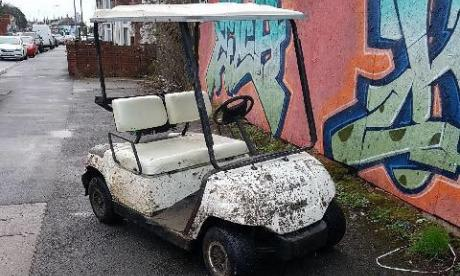 Police posted this picture apparently showing one of the golf carts