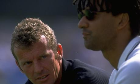 Graham Rix [left] spent several years as a coach at Chelsea, after playing at Arsenal