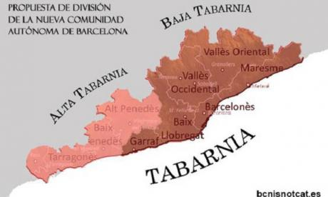 This picture from the Tabarnia website shows the territory it wishes to claim