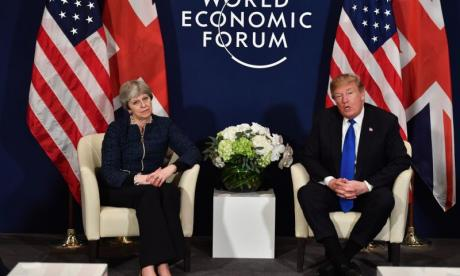 Theresa May met Donald Trump at Davos last week