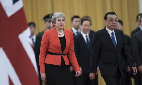 Theresa May has flown to China on a trade mission