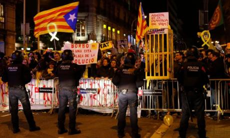 The King's visit has prompted major protests in Barcelona