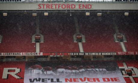 Fans flocked to Old Trafford to remember the Busby Babes