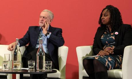 Dawn Butler, seen here with Jeremy Corbyn, criticised Theresa May this morning