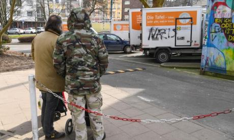 German food bank vandalised with 'Nazi' graffiti following ban on new migrants