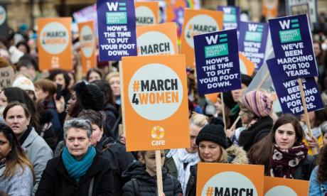 Thousands of people took part in the #March4Women