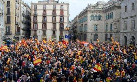 Tabarnia supporters filled the streets in Barcelona