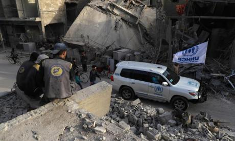 Syria aid crisis: 'Putin and Assad are not respecting ceasefire'
