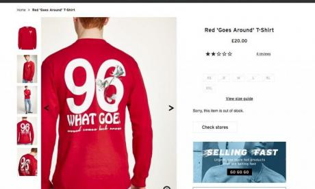 Topman removes top from sale after claims it references Hillsborough
