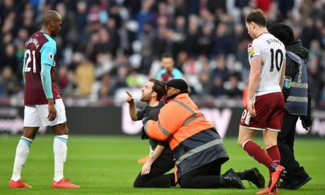 Several people invaded the pitch during West Ham's match with Burnley