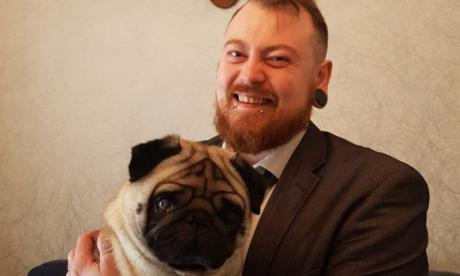 Meechan and his girlfriend's pug (picture: GoFundMe)