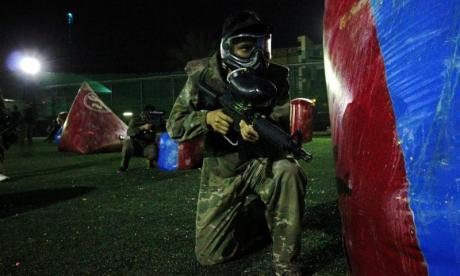 A wannabe Islamist killer used a paintballing session to train for jihad (stock image)