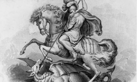 The Turkish-born Roman soldier famously slayed a dragon