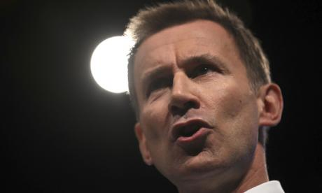 Under pressure: health secretary Jeremy Hunt