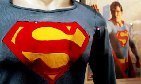 The Superman costume as worn by Christopher Reeve