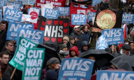 'The NHS is underfunded, staff are overworked and underpaid, services have been cut - and it is the Government that has caused it,' says Aneira Thomas