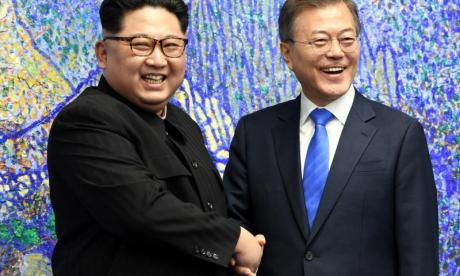Kim Jong-un and South Korean leader Moon Jae-in meet for peace talks