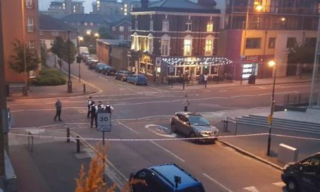 The scene in Deptford after the knife attack yesterday. Image: Katharina Greve