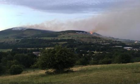 Firefighters tackle huge blaze on Saddleworth Moor