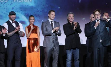 James Gunn and the cast of Guardians Of The Galaxy