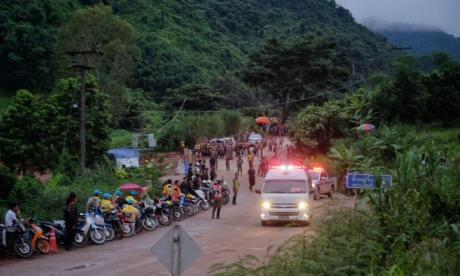 Mission to rescue four remaining boys trapped in Thai cave begins