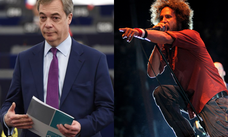 Nigel Farage sent cease-and-desist letter by Rage Against The Machine