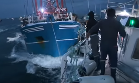 British and French fisherman clash in English Channel 'scallop war'