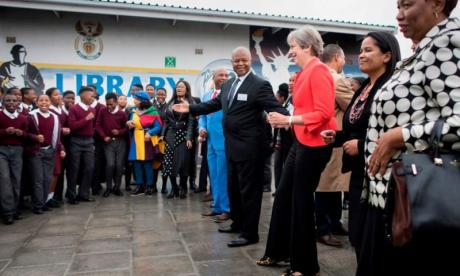 Theresa May shows off awkward 'Maybot' dance moves in South Africa