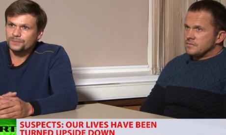 Novichok suspects appear on Russia Today: 'We visited Salisbury as tourists'