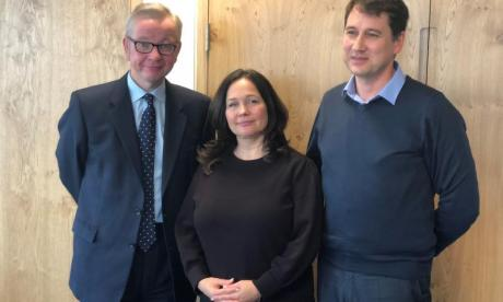 Michael Gove with Natasha's parents
