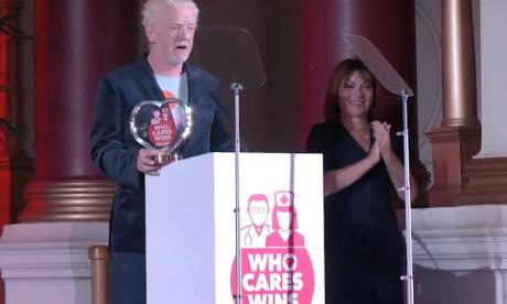 Chris Evans praises the NHS at Who Cares Wins awards