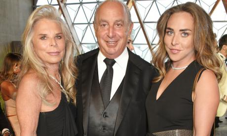 Philip Green and family