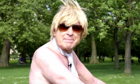 Tory MP Michael Fabricant strips off to launch a naked bike ride