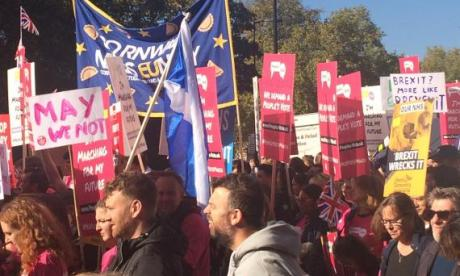 More than half a million protesters anti-Brexit march through London
