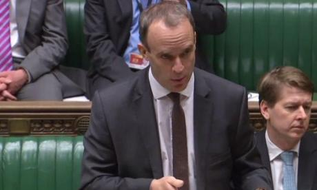 Dominic Raab: There is a risk of no deal because of EU's 'intrasigence'