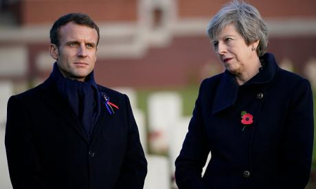 Emmanuel Macron and Theresa May