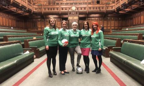 MPs told off for playing football in House of Commons