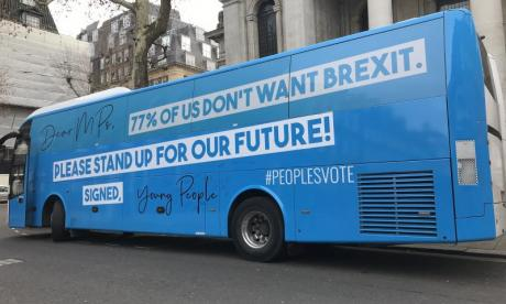 Anti-Brexit campaigners flood Parliament to protest Theresa May's Brexit deal
