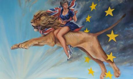 Artist who painted Theresa May riding a lion: 'It came to me in a dream!'