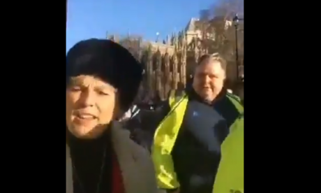 Anna Soubry protected by police as she was accused by pro-Brexit protesters of being 'on the side of Hitler'