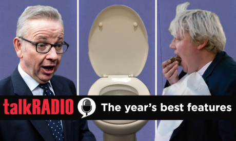 talkRADIO's best features of 2018, featuring Michael Gove's social media habits, fake Boris Johnson and a toilet