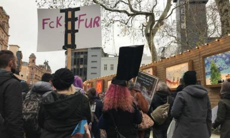 Hundreds of people take to London calling for the end of the fur trade